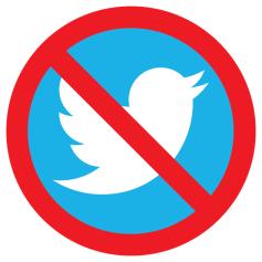 No Twitter Icon